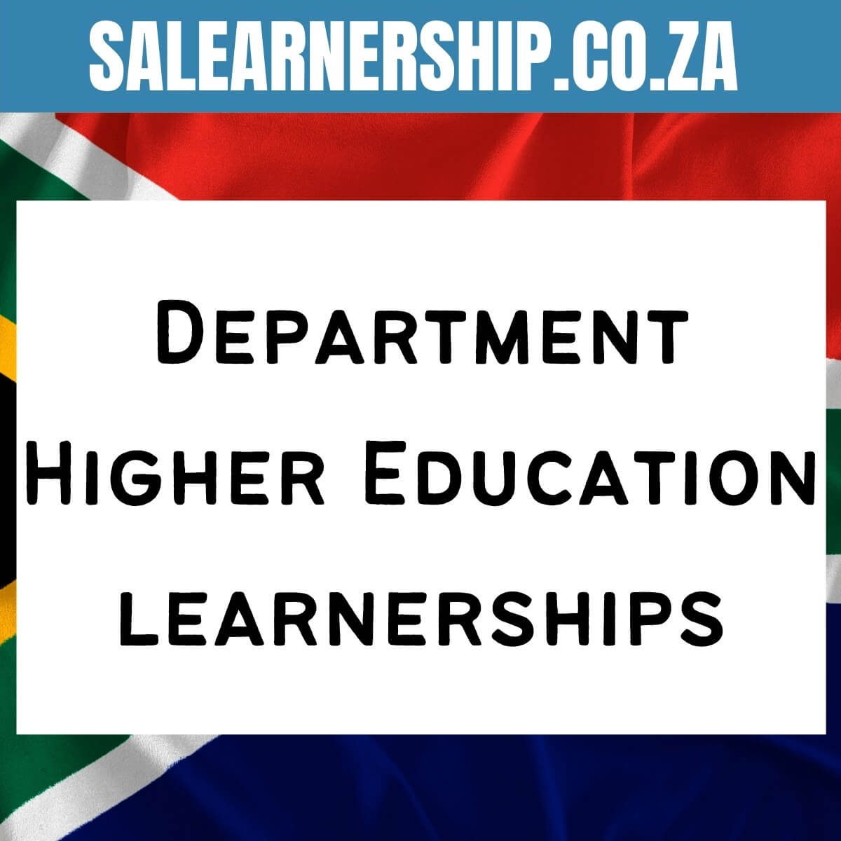 Department Higher Education learnerships