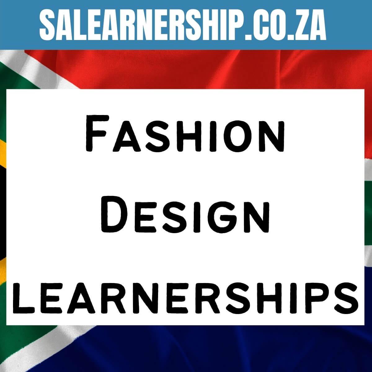 Fashion Design learnerships