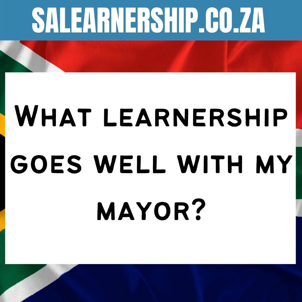 What learnership goes well with my mayor_
